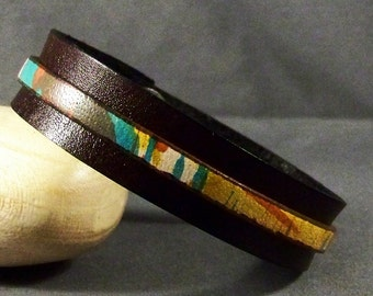 Leather Bracelet-Womens Leather Bracelet-Brown Bracelet-Bangle Bracelet-Wrist Cuff-Friendship Bracelet-Gifts-Friendship Gift-Cuff Bracelet