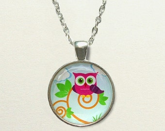 Owl Necklace jewelry, secret santa gift, owl jewelry, owl pendant necklace, owl gift, owl accessories, childrens jewelry little girls