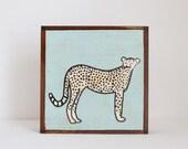 cheetah nursery art- baby boy nursery art- safari nursery prints, green baby nursery decor- kids playroom- savannah art- redtilestudio