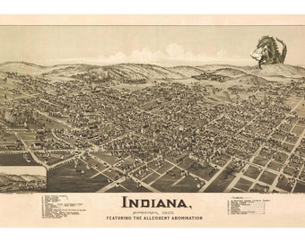 Indiana PA Digital Print Monster Art Indiana County Pennsylvania Beast Alternate Histories Geekery