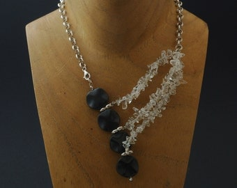 Sterling Silver and Onyx Necklace