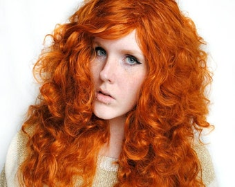Auburn wig, red wig, Long curly red wig, red cosplay wig - Lolita wig, Costume wig, ginger orange wig // Irish Beauty