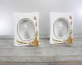 Pair Porcelain Frames