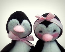 The Pinks, felt sewing  kit to make these two cute penguins