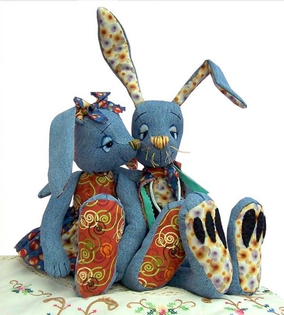 Rabbit Pattern - recycling raggedy rabbits, brilliant to reccyle your denims