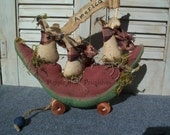Primitive Americana Mice Watermelon Parade Float