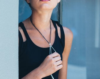 Multi strand black choker necklace   long chain necklace   punk jewellery   fashion jewelry   popular necklaces   gift for best friend