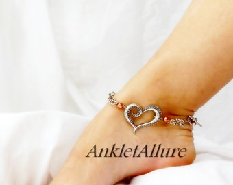 UNChain My Heart Anklet Southwestern Fusion Copper Silver Ankle Bracelet