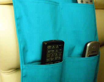 Turquoise Remote Control Caddy 4 pocket