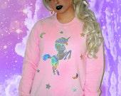 Custom Color Holographic Unicorn Dreams Sweatshirt