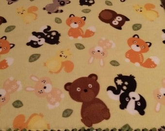 Woodland Creatures Fleece Blanket