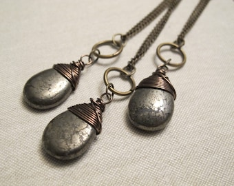 Pyrite Necklace - extra long