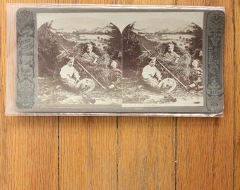"""Antique early 1900's Stereo Card, """"Stereoscopic Thornward Series"""""""