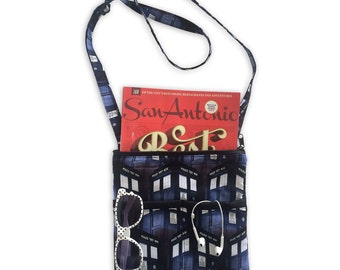 Doctor Who Crossbody Bag // Sling Bag // Crossbody Purse // Tardis Bag