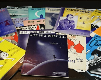 Vintage Sheet Music from the 1940s - Lot of 19