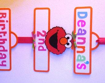Girly Elmo/Sesame Street Birthday Party Sign