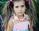 Fabulous Bubblegum Necklace - Baby Girl Toddler Big Girl Necklace - Great Photo Prop