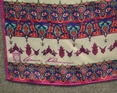 1980s Anne Klein Celtic Design Silk Scarf