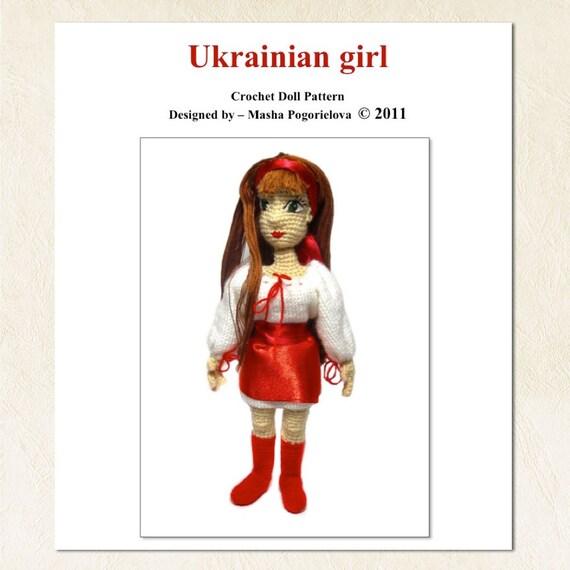 Ukrainian Doll - pdf crochet toy pattern, amigurumi pattern, tutorial