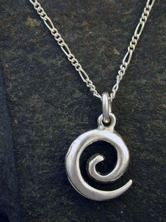 Sterling Silver Celtic Swirl Pendant on a Sterling Silver Chain.