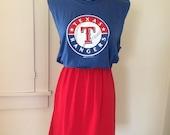 Texas Rangers Baseball Game Day T Shirt Tee Dress
