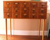 Antique Globe Library Card Catalog File