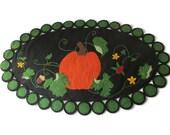 Fall Pumpkin Penny Rug Table Topper