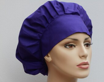 Scrub Hats YOU PICK a Color Bouffant Surgical Scrub Hat - Assorted Colors Solid  Kona Cotton