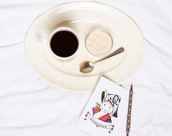 Rabbit Notebook (rabbit gift, easter gift, easter bunny gift, rabbit birthday gift, sailor tattoo gift, rabbit design, journal, sketchbook)