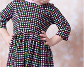Gloria Play Dress: Girl's knit dress pattern, play dress pattern, lace dress pattern