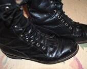 Black vintage JUSTIN Boots size 7 1/2