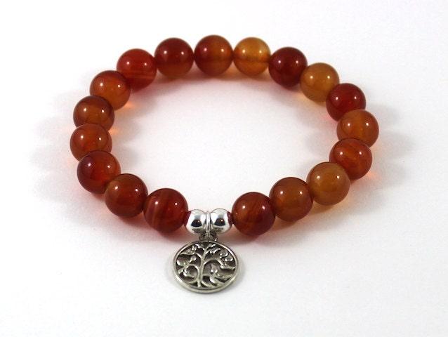 fertility bracelet carnelian july birthstone tree of