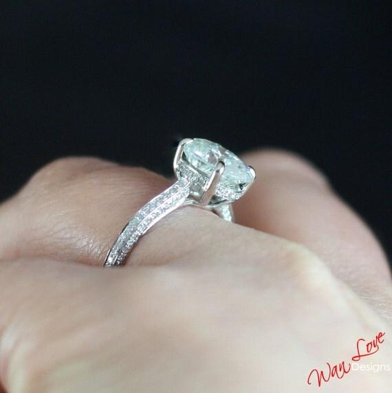 forever one moissanite oval engagement ring basket