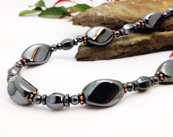 CHUNKY CHOKER Magnetic Therapy || Triple POWER Hematite Magnetic || Pure Copper Migraine Therapy Necklace Free Gift Tag and Bag