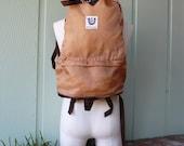 VTG Bag Skyline Tall Hiking Backpack Back pack Rucksack Padded Shoulder Tan Brown Book Essential Pack Rugged Outdoor Hipster Laptop Preppy