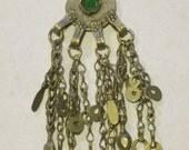 Small Round Kuchi pendant w/dangles