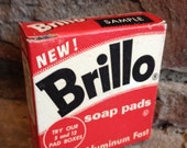 Vintage Brillo Pad Box Advertising Kitchen Sample New Old Stock Unused - #1563
