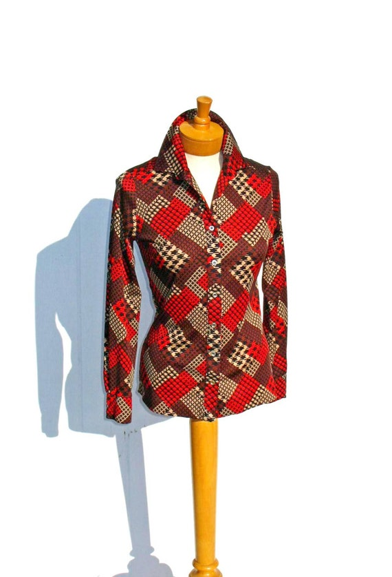 Patchwork blouse Etsy
