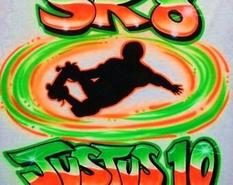 Airbrush T Shirt Skateboard Skater, Airbrush Skater Shirt, Airbrush Skateboard Shirt, Skater Shirt, Skateboard Shirt, Airbrush Shirt, Skate