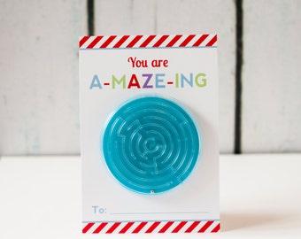 Printable A-maze-ing Maze Kids Valentine