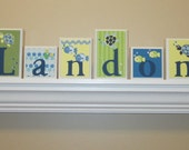 Nursery Name Set . Baby Name Letters . Turtle Theme Nursery Decor . Baby Name Blocks . Wood Name Blocks . Under the Sea . Turtle . Landon