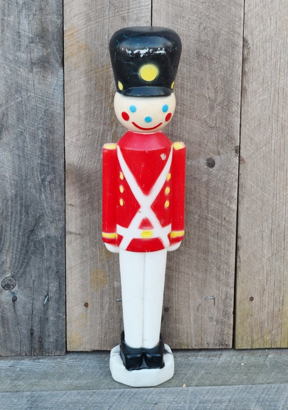 Christmas Toy Soldier Plastic Blow Mold Decoration Light Up