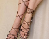 Lace Up  Flat  Sandals - Glory, also available at Free People
