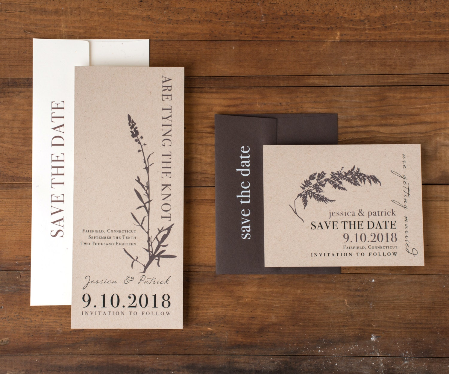 Wedding Save The Date Postcards: Rustic Save The Dates Rustic Wedding Save The Date Cards