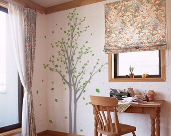 Living Room Tree Wall Decal Family Tree- Memory Tree (83inch H) - Office Tree Wall Art Removable Vinyl Wall Stickers pt0267