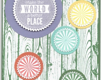 You Make the World a Better Place Starburst Card