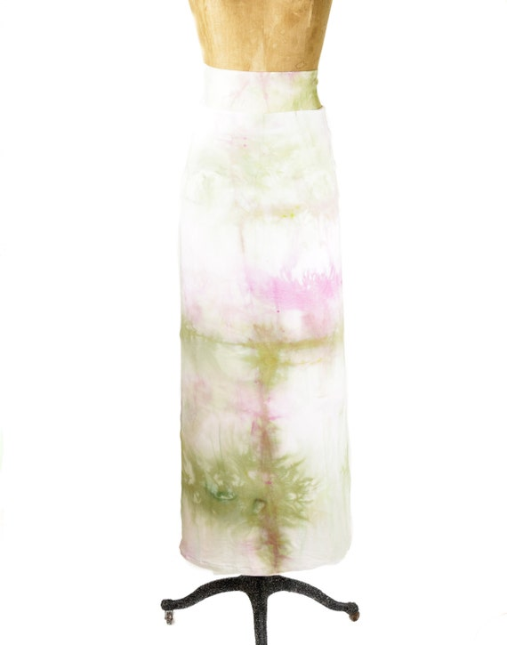 watermelon inspired pink and green maxi skirt by mashaapparel