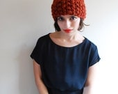 The Classic Toque Hand Knit in Spice Wool Blend