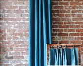 "108"" Solid Panel with Euro Pleat - Custom Curtains - Choose from 28 colors - custom drapes"