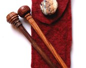 Premium Handturned Rosewood Knitting Needles - Size 13 with case